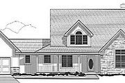 Traditional Style House Plan - 5 Beds 4 Baths 3861 Sq/Ft Plan #67-456 Exterior - Front Elevation