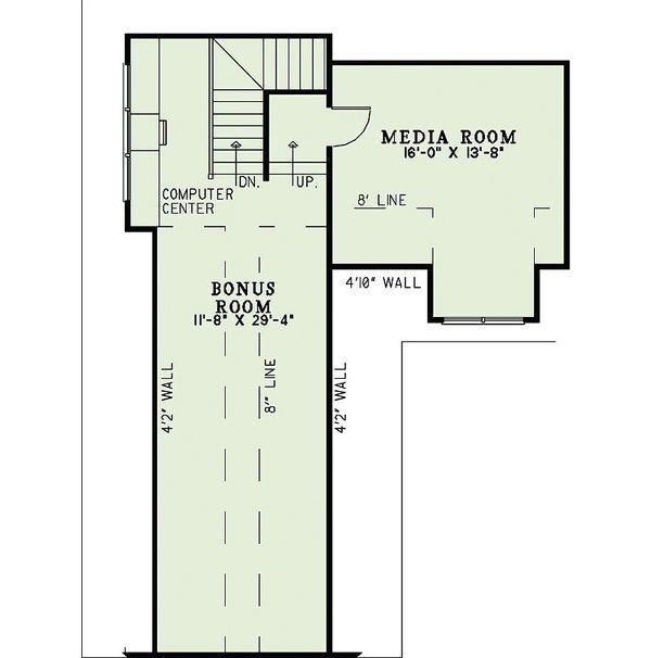 Craftsman Floor Plan - Upper Floor Plan Plan #17-2375