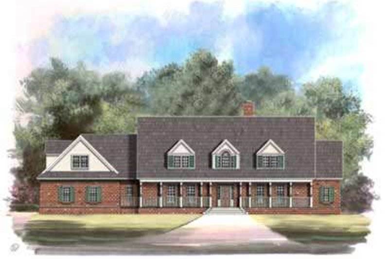 Country Style House Plan - 4 Beds 3 Baths 3867 Sq/Ft Plan #119-224 Exterior - Front Elevation