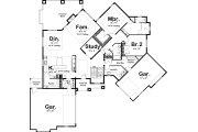 Craftsman Style House Plan - 2 Beds 2 Baths 2590 Sq/Ft Plan #455-213 Floor Plan - Main Floor Plan