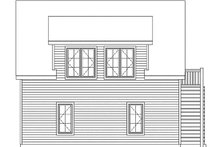House Plan Design - Country Exterior - Rear Elevation Plan #22-602