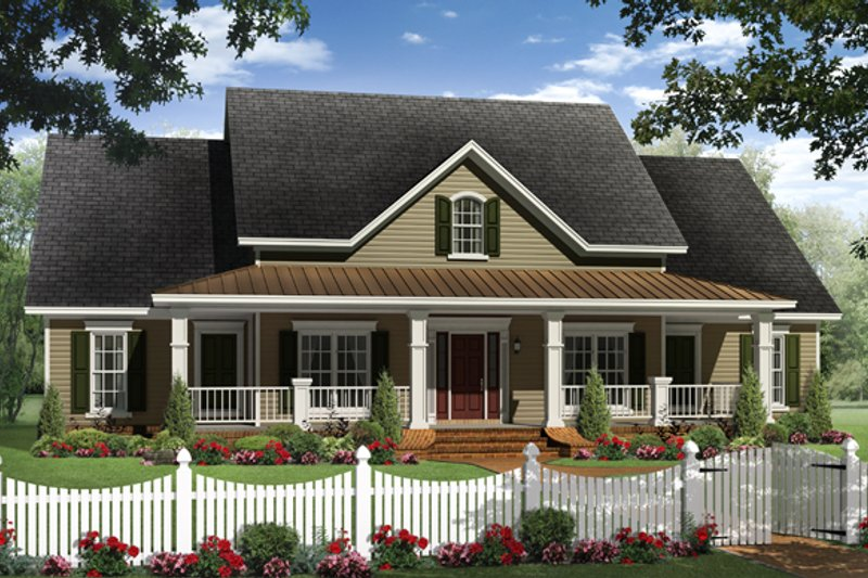 Country Exterior - Front Elevation Plan #21-362 - Houseplans.com