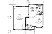 Colonial Style House Plan - 3 Beds 1 Baths 1269 Sq/Ft Plan #25-4259 Floor Plan - Main Floor Plan