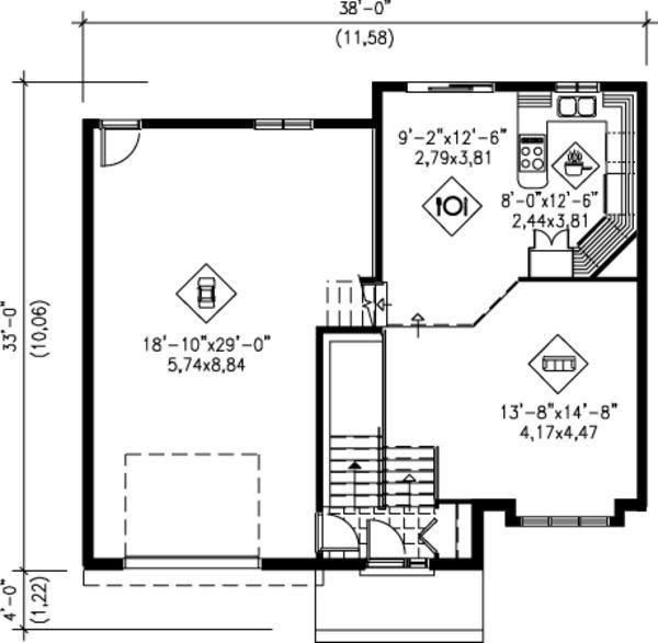 Colonial Floor Plan - Main Floor Plan Plan #25-4259