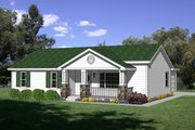 Cottage Style House Plan - 3 Beds 2 Baths 1246 Sq/Ft Plan #116-209 Exterior - Front Elevation