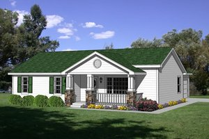 Cottage Exterior - Front Elevation Plan #116-209