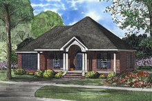House Plan Design - Southern style home, front elevation