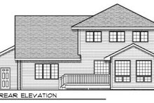 Traditional Exterior - Rear Elevation Plan #70-686