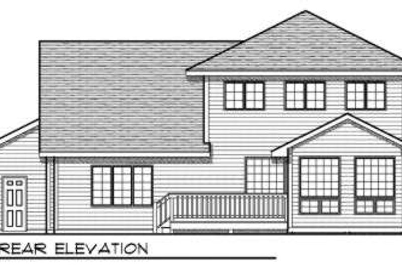 Traditional Exterior - Rear Elevation Plan #70-686 - Houseplans.com