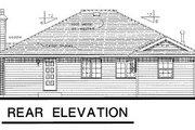 European Style House Plan - 3 Beds 2 Baths 1553 Sq/Ft Plan #18-158 Exterior - Rear Elevation