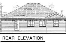 European Exterior - Rear Elevation Plan #18-158