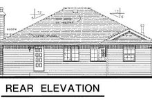 European Exterior - Rear Elevation Plan #18-158