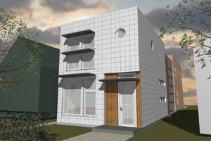 Modern Exterior - Front Elevation Plan #535-3
