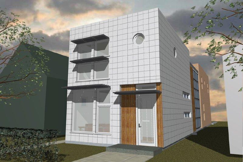 Home Plan - Modern Exterior - Front Elevation Plan #535-3