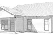 Bungalow Exterior - Rear Elevation Plan #63-250