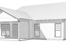 Bungalow Exterior - Rear Elevation Plan #63-250