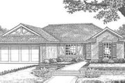 Ranch Style House Plan - 3 Beds 2 Baths 1125 Sq/Ft Plan #310-282 Exterior - Front Elevation