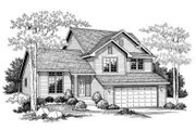 Traditional Style House Plan - 3 Beds 2 Baths 1663 Sq/Ft Plan #70-651 Exterior - Front Elevation