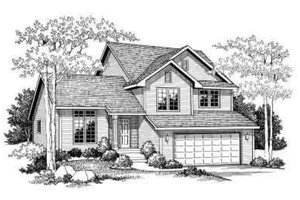 Traditional Exterior - Front Elevation Plan #70-651