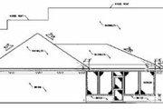 Farmhouse Style House Plan - 3 Beds 2 Baths 2211 Sq/Ft Plan #36-202 Exterior - Rear Elevation