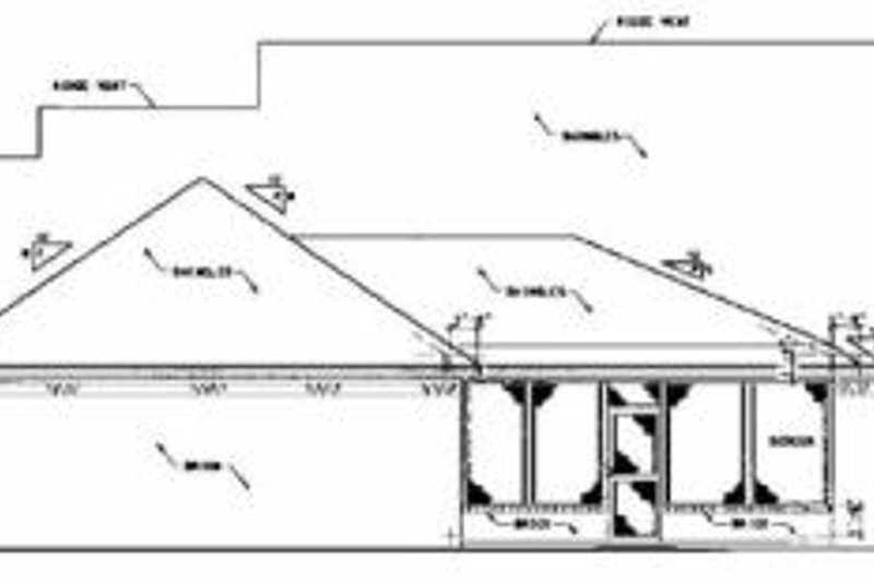 Farmhouse Exterior - Rear Elevation Plan #36-202 - Houseplans.com