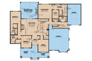 Country Style House Plan - 3 Beds 3.5 Baths 2410 Sq/Ft Plan #923-36 Floor Plan - Main Floor