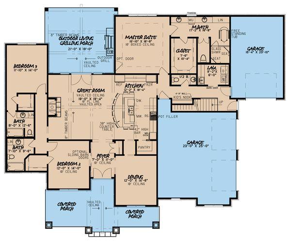 Country Floor Plan - Main Floor Plan #923-36
