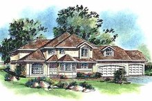 Home Plan - European Exterior - Front Elevation Plan #18-220