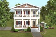 Craftsman Style House Plan - 3 Beds 3.5 Baths 2035 Sq/Ft Plan #56-638 Exterior - Front Elevation