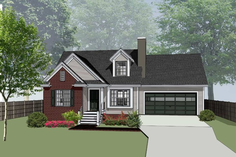 House Plan Design - Cottage Exterior - Front Elevation Plan #79-158