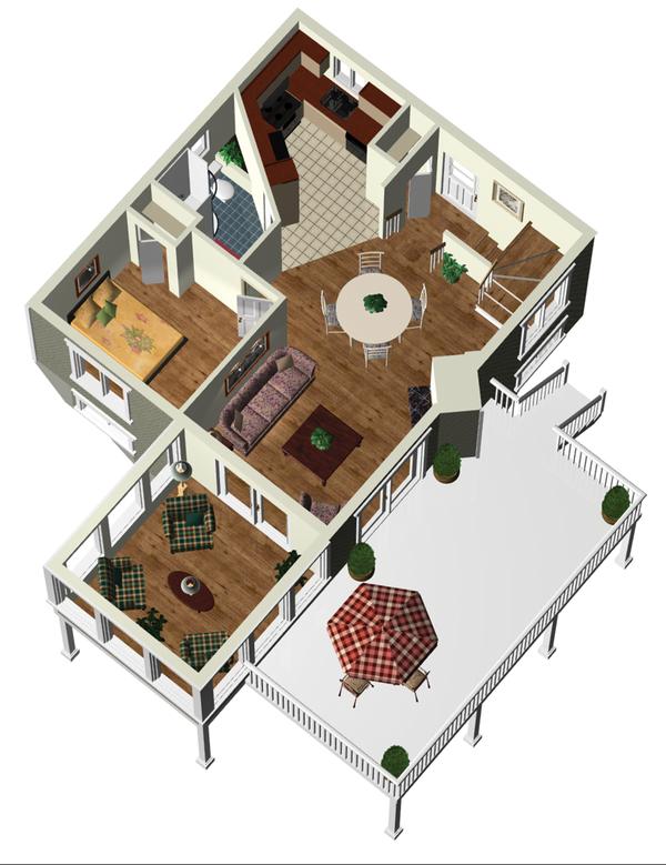 Country Floor Plan - Main Floor Plan Plan #25-4746