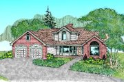 Traditional Style House Plan - 4 Beds 2.5 Baths 2659 Sq/Ft Plan #60-242 Exterior - Front Elevation