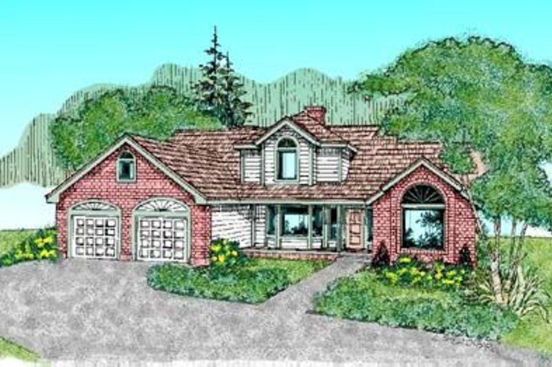 Traditional Exterior - Front Elevation Plan #60-242 - Houseplans.com