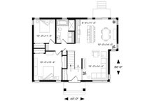 Ranch Floor Plan - Main Floor Plan Plan #23-2620