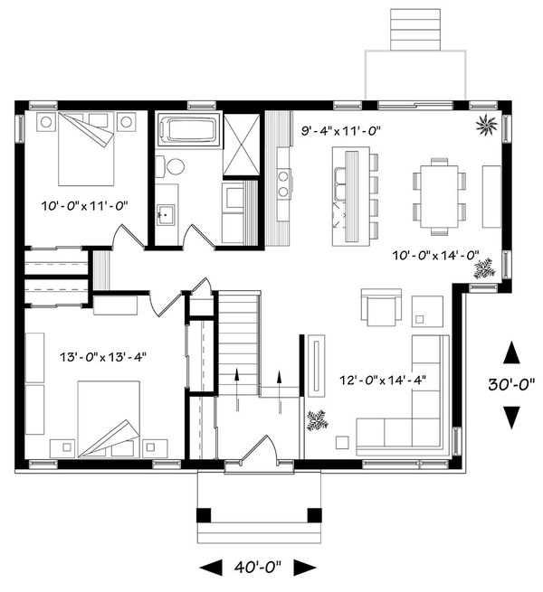 House Plan Design - Ranch Floor Plan - Main Floor Plan #23-2620