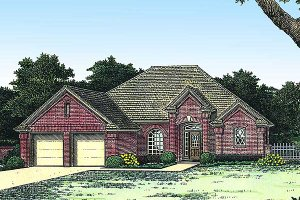 Colonial Exterior - Front Elevation Plan #310-770