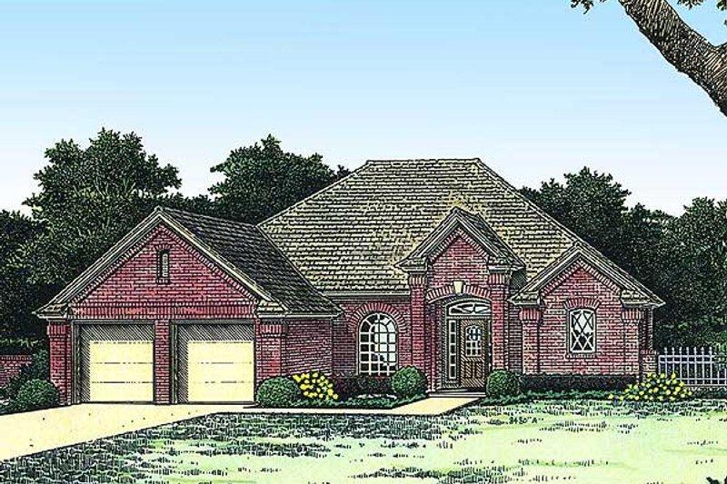 Colonial Exterior - Front Elevation Plan #310-770 - Houseplans.com