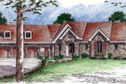 Bungalow Style House Plan - 2 Beds 2.5 Baths 3887 Sq/Ft Plan #312-707 Exterior - Front Elevation