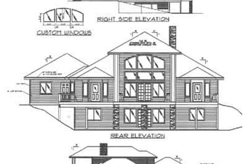 Modern Exterior - Other Elevation Plan #117-384 - Houseplans.com