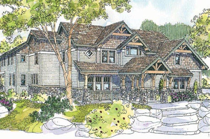Craftsman Exterior - Front Elevation Plan #124-723