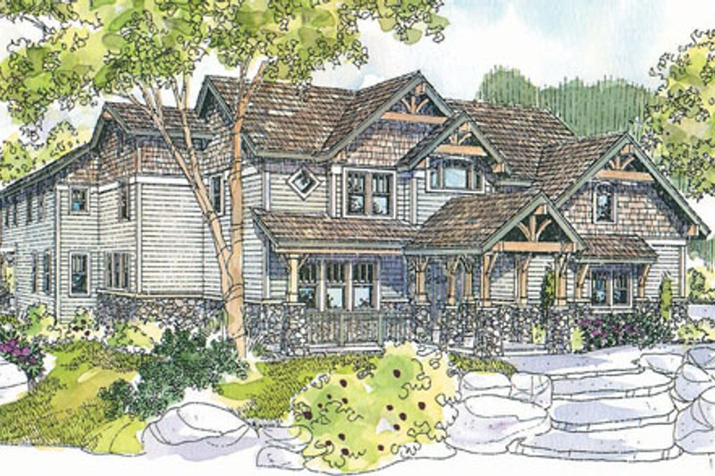 Craftsman Exterior - Front Elevation Plan #124-723