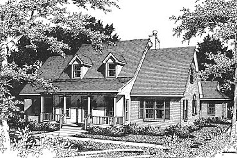 Architectural House Design - Farmhouse Exterior - Front Elevation Plan #14-204