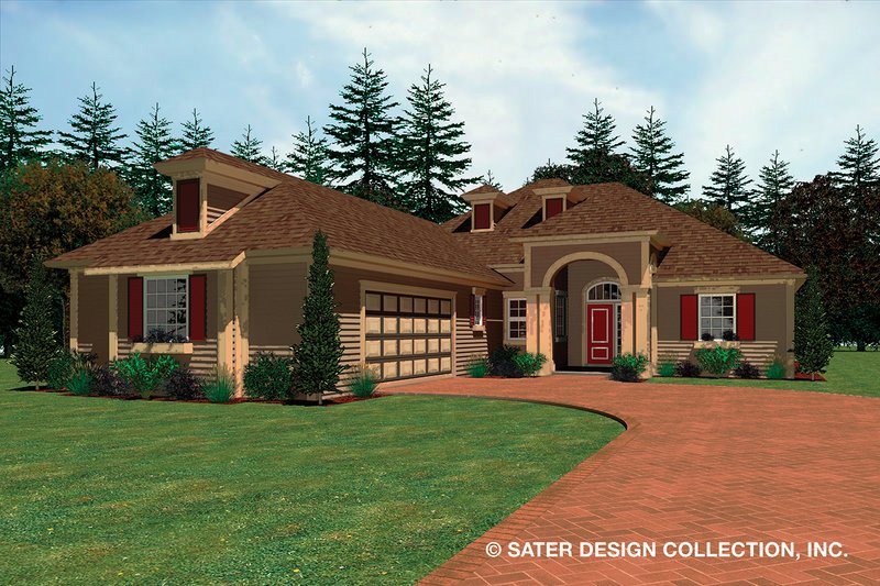 Ranch Exterior - Front Elevation Plan #930-482