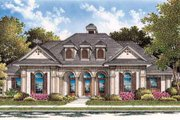 European Style House Plan - 3 Beds 2 Baths 2328 Sq/Ft Plan #45-258 Exterior - Front Elevation