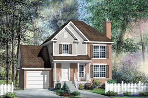 Traditional Exterior - Front Elevation Plan #25-4696