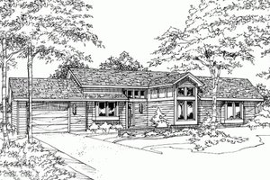 Ranch Exterior - Front Elevation Plan #320-318