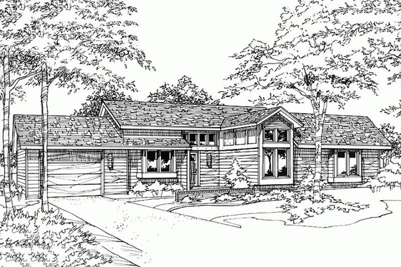 Ranch Exterior - Front Elevation Plan #320-318 - Houseplans.com