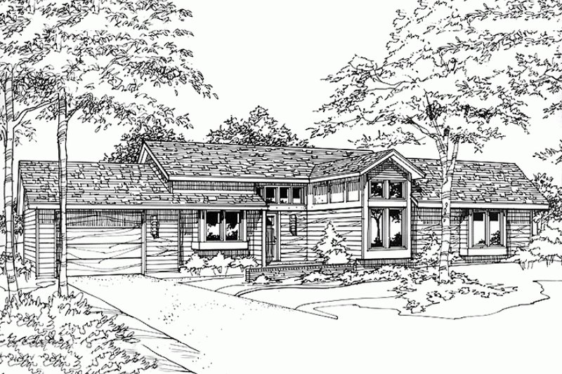Dream House Plan - Ranch Exterior - Front Elevation Plan #320-318