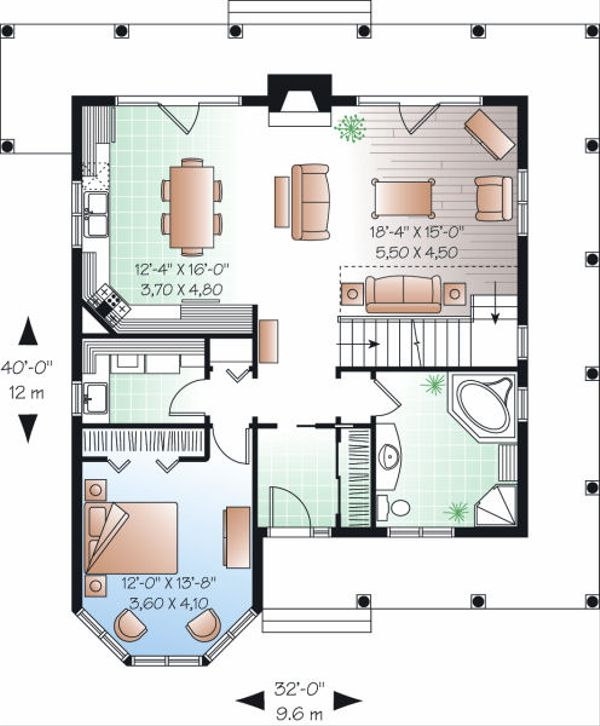 Farmhouse Floor Plan - Main Floor Plan Plan #23-823