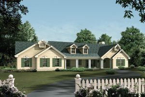 Ranch Exterior - Front Elevation Plan #57-191